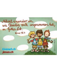 Postkarte zu Römer 15,7