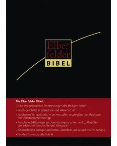 Elberfelder Bibel - Grossausgabe - schwarz mit Registerstanzung