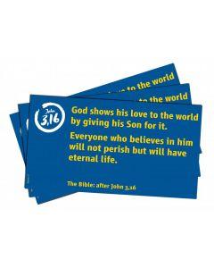 Verskarten Johannes 3,16 (Englisch)