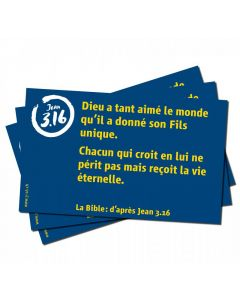 Verskarten Johannes 3,16 (Französisch)