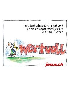 Postkarte Wertvoll A6 (Jesus.ch)