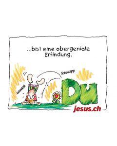 Postkarte Du (jesus.ch)
