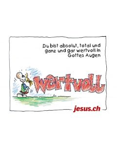 "Plakat ""Wertvoll"" A3 (Jesus.ch)"