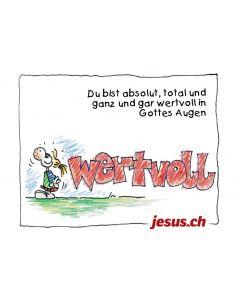 "Plakat ""Wertvoll"" A4 (Jesus.ch)"