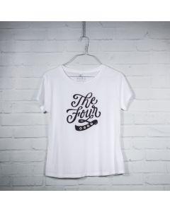 """THE FOUR T-Shirt """"Script"""" weiss Frauen Grösse L"""