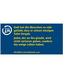 Traktat-Karten Johannes 3,16 Agentur C (Deutsch)